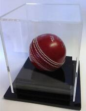 Deluxe Cricket Ball Display Case Acrylic Perspex Signed Ball, Memorabilia Sale