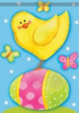 CARSON Easter Colored Eggs & Baby Yellow CHICK PEEPS Bunny Garden FLAG BRAND NEW