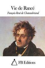 Vie de Rancé by François-René de Chateaubriand (2014, Paperback)