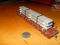 HO or OO Scale-Gauge  handmade pipe load for flat cars-gondolas