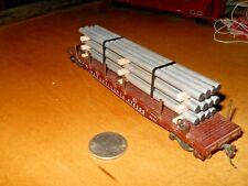 HO Scale-Gauge  handmade pipe load for flat cars-gondolas