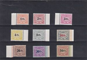 0224 Switzerland MNH 1945  Train stamps Nice lot see scan
