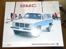 GMC K-Jimmy 4x4 brochure 1985 Canadian market