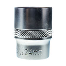 "524224 24mm 1/2"" Dr Short Metric Socket 12 Point (12PT) Heavy Duty 42mm Length"