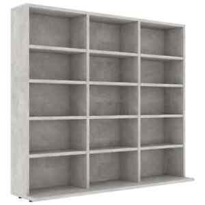 vidaXL Media Tower Rack Storage CD DVD Shelf Cabinet Organizer Stand Holder