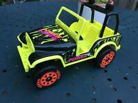 Vintage Tonka Jeep Power Neon Yellow Black Pressed Steel 80s 90s 4X4