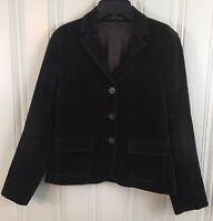 Theory Size 6 Women's Chocolate Brown Corduroy Blazer Jacket