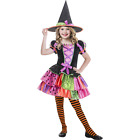 PATCHWORK WITCH Costume by Goodmark Includes Dress & Hat Child Girl Small 4-6