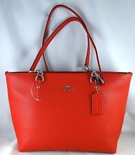 COACH SOPHIA TRUE RED LEATHER SMALL TOTE BAG 36604