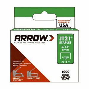 "Heavy Duty Arrow Staples JT21 T27  8mm (5/16"") (Box of 1000)"