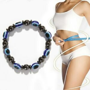Magneto Therapy Health Fashion Weight Loss Blue Black Stone Bracelet Health Care