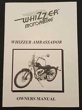 New Whizzer Ambassador Owner's Manual