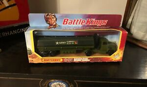 Matchbox Battle Kings K-115 Articulated Petrol Tanker Army Green Boxed