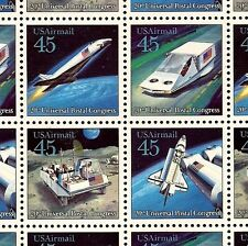 [SOLD] 1989 - U.P.C. - #C122-125 Full Mint -MNH- Sheet of 40 Airmail Stamps