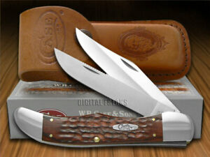 Case xx Folding Hunter Knife Jigged Brown Stamina Wood Pocket 00189