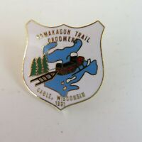 VTG 1991 Snowmobile Snowmobiling Pin - Namakagon Trail Groomers - Cable, WI