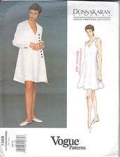 Vintage Vogue 1368 American Designer Donna Karan, A-line coat,dress  Sizes 6-10
