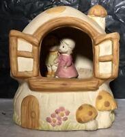 Vintage Boy & Girl in Mushroom Home Sweet Home Music Box - Made in  Japan