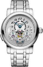 107068 | MONTBLANC NICOLAS RIEUSSEC | BRAND NEW AUTHENTIC SILVER 43MM MENS WATCH