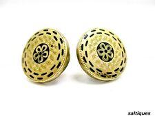 Victorian Taille D'Epargne Gold Filled Cuff Links Round Cuff Button Cufflinks