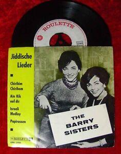 EP Barry Sisters Jiddische Lieder
