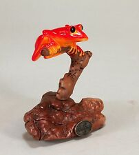 RED TREE FROG Sculpture New Direct from JOHN PERRY 5in tall Figurine Signed