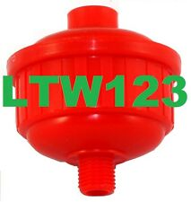 "(2)Disposable  Inline Air Oil Water Separator Filter For Paint Spray Gun 1/4""NPT"