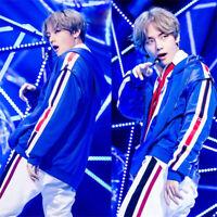 KPOP BTS Bangtan Boys Kim Tae Hyung Hoodie Unisex Blue Jacket Coat Sweater Tops