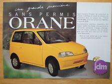 JDM SIMPA orane rare SAMS permis microcar brochure-années 90
