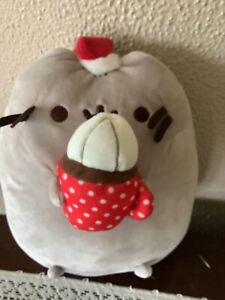 GUND Pusheen Snackable Hot Cocoa Christmas Holiday Cat Plush 4054851 NWOT