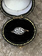 Antique Art Deco 18ct Gold Diamond Ring. With Box.