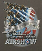 US NAVY BLUE ANGELS Wings Over Houston Texas 2012 T-shirt Mens Size 2XL XXL, NEW