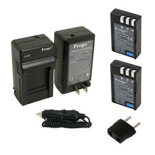 2 Battery + Charger EN-EL9 EN-EL9a MH-23 For Nikon D40X D40 D60 D5000 D3000