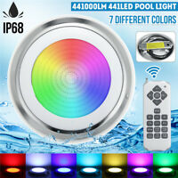 441LED RGB Underwater Swimming Pool Light IP68 Remote Control Fountain Light