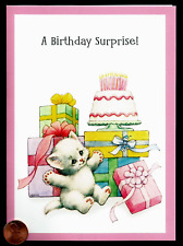 Morehead Adorable Kitten Cat Presents Cake Religious Birthday Greeting Card New