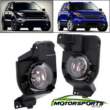 [Glass lens] 2011-2015 Ford Explorer Fog Lights Lamps w/Bulbs 2012 2013 2014