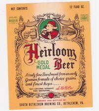 Heirloom Gold Medal Beer Label