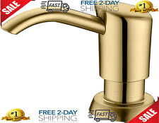 Built in Sink Soap Dispenser or Lotion Dispenser for Kitchen Sink Brushed Gold