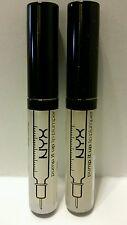 NYX Pump It Up Lip Plumper PIU03 Liv Clear Peptides Collagen Plumping LOT OF 2