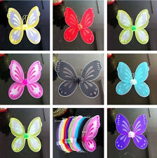 """10Color Kids Adults Butterfly Fairy Wings Tinkerbell Pixie Party Costume 18""""x19"""""""