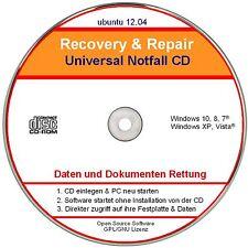 Recovery CD, Passwort vergessen? Daten Rettung für Window 10, 8, 7, XP, Vista