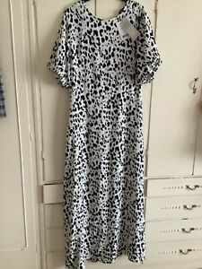 Next animal print maxi dress size 16 tall new with tags