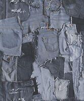 Vliestapete Jeans Optik blau stone washed VP3202 Village People textil Optik