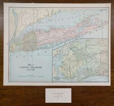 1804 NY MAP Brooklyn Conesus Rye Beach Cazenovia Binghamton Wampsville Ravenna