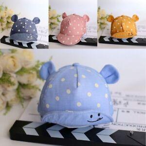 Cute Baby Kids Hats Summer Dot Print Cotton Girl Boy Sun Hat Cap Bucket with Ear