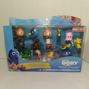 Finding Dory 14 Pack Collectible Figures Seal Mr. Ray Otter Hank Sheldon Pearl