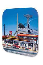 Wanduhr G. Huber Tankstelle American diner Wand Deko Acryl Uhr Vintage Nostalgie