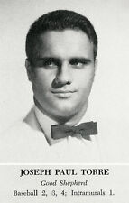 JOE TORRE High School Yearbook SENIOR Year