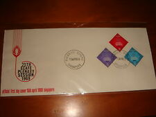 NICE POSTMARKS, Singapore 1969 25th Plenary Session of ECAFE, 3v FDC