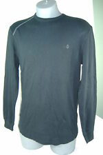 "New Mens Small VOLCOM ""Basic"" Black Thermal Long Sleeve Shirt $35"